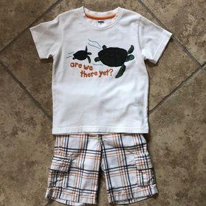 Gymboree Turtle Shirt/Shorts Set